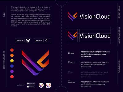 VisionCloud logo Design