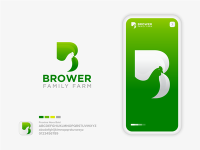 Brower Family Farm conceptual logo logo 2020 logo brand farmers market chicken family farm company logo green logo colorful logo design process logo design dribbble branding creative logo design concept farm logo