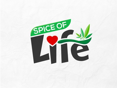 Spice of Life Logo Design food logo concept logo logo trends 2020 logo designer logo design logo branding graphic design gradient logo dribbble best shot creative corporate brand identity conceptual logo app logo design branding