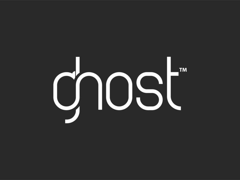 ghost logo design typography product-design custom logo concept logo logo trends 2020 logo designer logo design logo branding graphic design dribbble best shot creative corporate brand identity conceptual logo app logo design branding