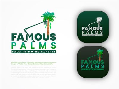 Palm Trimming Experts logo lo go conceptual logo logo branding branding logo maker logos makers lo-go logo how to make logo