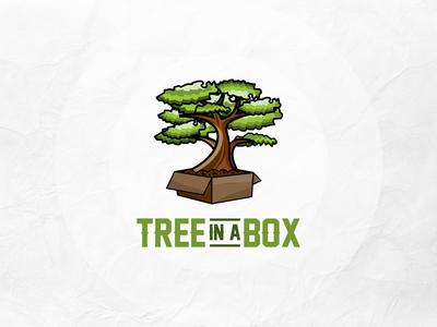 Tree in a Box Logo Design creative logo maker l o g o custom logo concept logo graphic design lo go brand identity logo maker conceptual logo branding