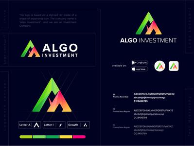 Algo Investment logo investment logo design investment logo ideas investment company logo investment logos l o g o concept logo graphic design lo go brand identity logo maker conceptual logo