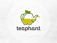 teaphant logo concept creative logo maker tea logo l o g o custom logo concept logo elephant logo lo go brand identity logo maker conceptual logo