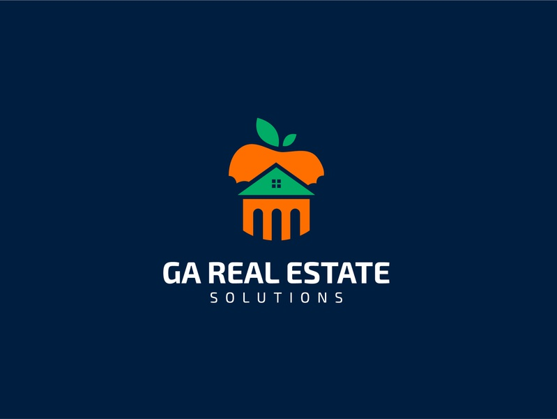 GA REAL ESTATE SOLUTIONS realestate creative logo maker l o g o custom logo concept logo graphic design lo go brand identity logo maker conceptual logo