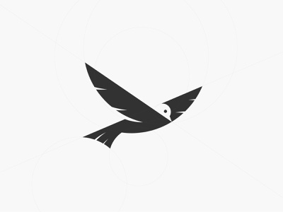 Bird Golden Ratio Logo brand identity logo maker conceptual logo negative space