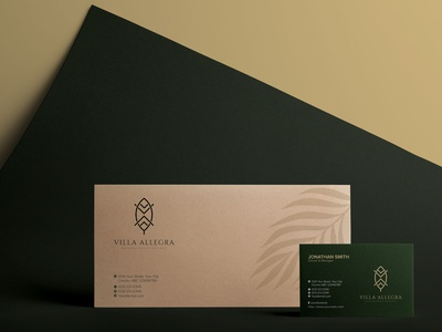 VILLA ALLEGRA  Business Card  Invitation Card design conceptual logo brand identity graphic design invitation card business card logo design branding