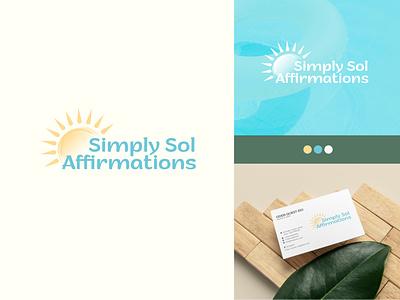 Simply Sol Affirmations branding creative logo maker l o g o custom logo yoga logo concept logo lo go brand identity logo maker conceptual logo