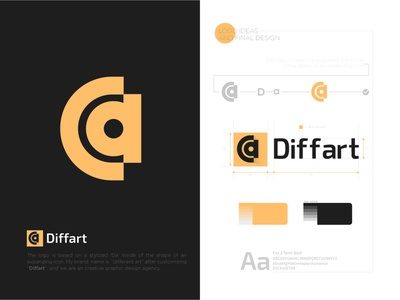 diffart logo diffart.me logodesign l o g o concept logo maker logo brand identity graphic design concept logo conceptual logo branding diffart logo logo design