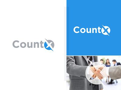 CountX logo x letter text logo maker l o g o branding logo 2021 modern logo brand identity logo maker conceptual logo x letter logo