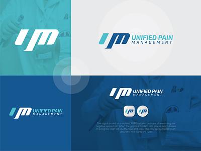 Unified Pain Management custom logo logo maker logos modern logo design 2021 graphic design modern logo l o g o branding ump logo brand identity logo design conceptual logo