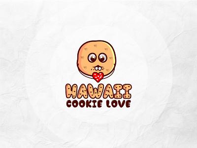 Hawaii Cookie Love logo classic logo creative logo brand logo mascotlogo logodesign logo maker branding concept logo hand drawn brand identity