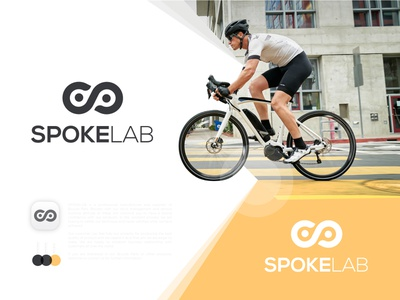 SPOKELAB LOGO concept logo l o g o brand identity logo design branding lo go logos bike parts logo maker conceptual logo graphic design s logo mark logo mark bicycle parts logo logotype bicycle logo logodesign
