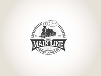 Create a bold classic logo for The Main Line Office Complex