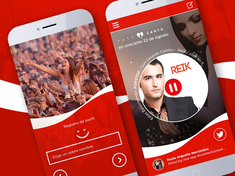 Coca coca-cola app prototype redesign radio tv ux ui coca music