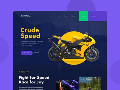 Motorbike Race Website website uiwebsite race racing motorcycle motor moto motorbike ui design uidesign concept blue webdesign