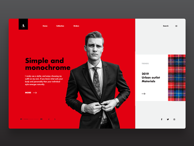 Fashion Website UI Design Concept