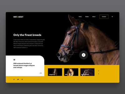 Horse stable company web design