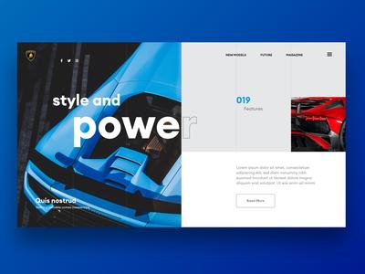 Lamborghini Aventador and Huracan Website