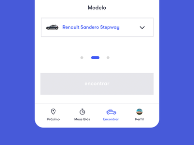 Menu App Car Bid