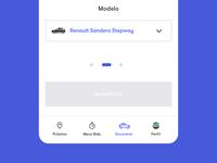 Menu App Car Bid