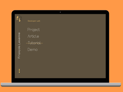 Minimalist design webSite minimalist design