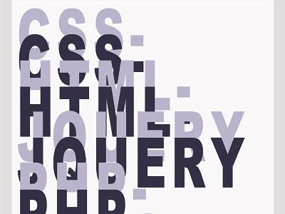 Various Web Programming Languages design poster
