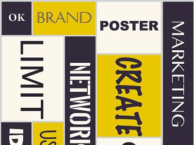 Typography Poster Branding branding typography illustration design poster