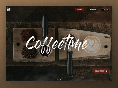 Landing Page for Coffee shop