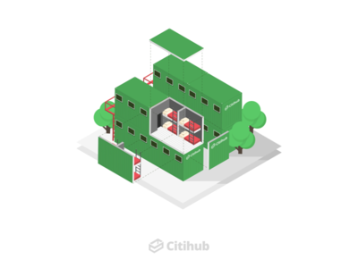 Citihub Branding visual design graphic illustration website branding