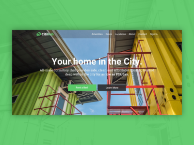Citihub Web Design visual booking design web