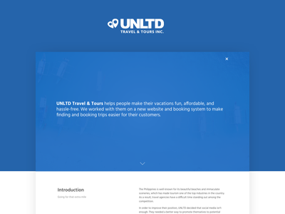 UNLTD Travel & Tours - Case Study case study design web tourism booking travel
