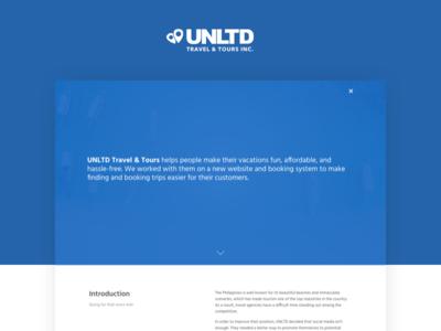 UNLTD Travel & Tours - Case Study case study design web tourism booking travel