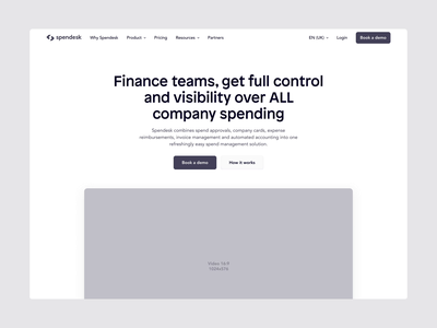 Spendesk - Homepage [Wireframe to high fidelity] parallax aftereffects website homepage fintech spendesk purple identity brand branding ux ui wireframe