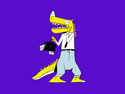 [Spendesk] - CFO Dino illustration finance motion animation purple spendesk fintech cfo branding campaign brand