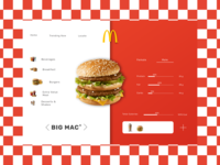 Calories Calculator Concept for McDonald's//Daily UI