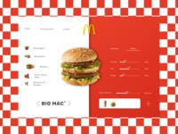 Calories Calculator Concept for McDonald's//Daily UI