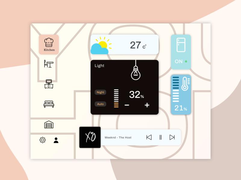 Smart Home Dashboard hitech interface design smart home ui design ui