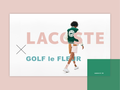 LACOSTE x GOLF le FLEUR Collection website