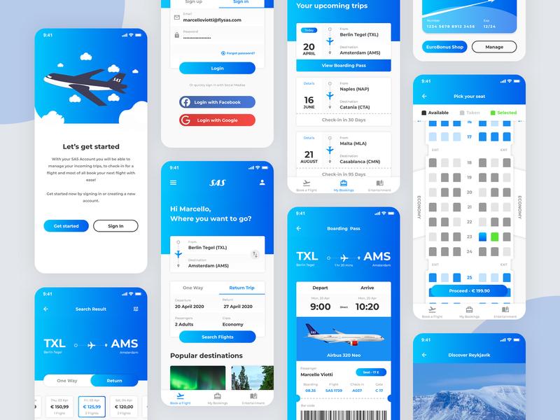 Scandinavian Airlines Mobile App Redesign (Part 2)