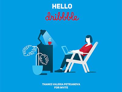 Hello Dribble! adobe illustrator concept illustration character design design graphic design flat illustration vector illustration illustrator infographics character flat illustration