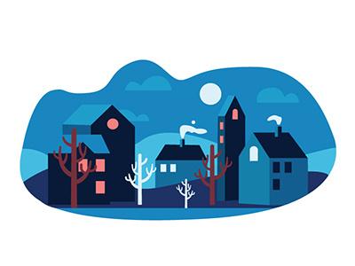 Nordic Town adobe illustrator concept illustration design graphic design flat illustration vector illustration illustrator infographics hippie flat illustration