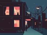 City Night Vector Illustration