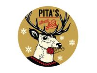 Christmas Sticker Illustration Design for Pita's