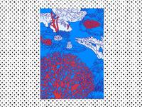 Pop art coral reefs