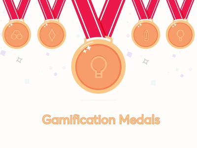 Gamification Medals vector illustration ui user interface