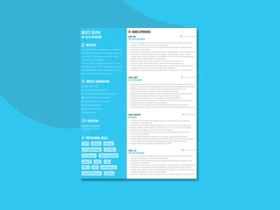Resume Template vector ui ux illustrator design free resume template resume cv