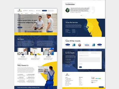Web Design Template mockup template air conditioning template template design website design web design website