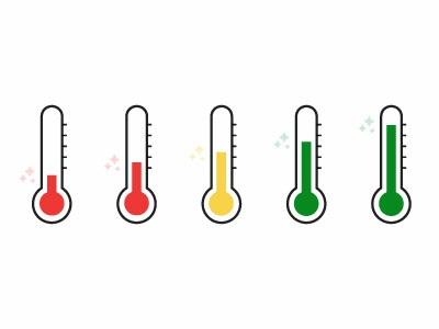 Vector Thermometers graphic vector art thermometer