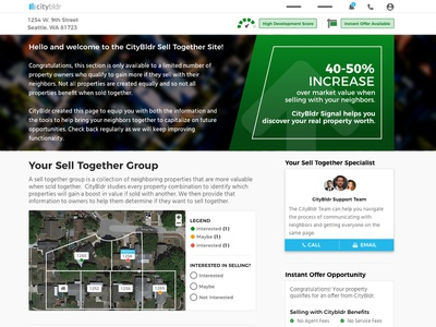 Citybldr Landingpage   Claim user experience design real estate uxui real estate tech